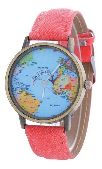 Reloj De Avión Mapa Mundial Original + Envío Gratis