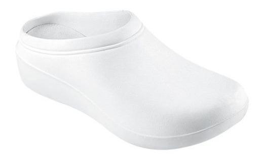 Zapato Tipo Sueco Cuña Kafe Choclo Blanco 142756 E