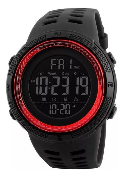 Reloj Deportivo Skmei Sumergible Con Estuche De Metal 1251