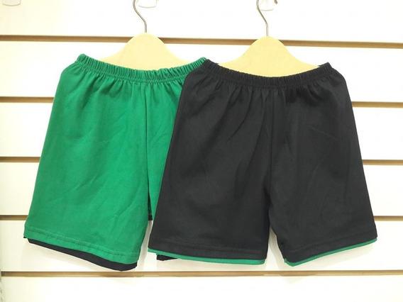 Pantalon Short Verano 2019 Doble Color Dobladillo Oferta