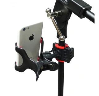 Holder Soporte Celular Atril Microfono Stand Pedestal