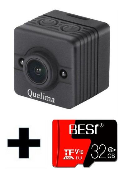 Mini Camera Filmadora Sq12 1080p Full Hd Com Cartao 32gb
