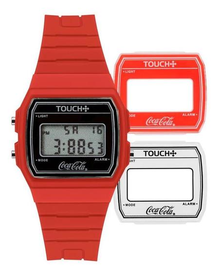 Relógio Unissex Touch Vermelho - Original
