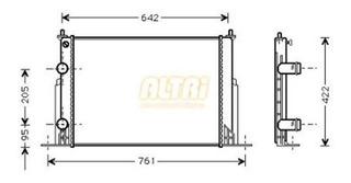Radiador Infra Fiat Stilo 1.8 1.9 2.4 Reforzado