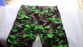 Bermuda Camuflada Sarja Jeans Elus Tamanho 44