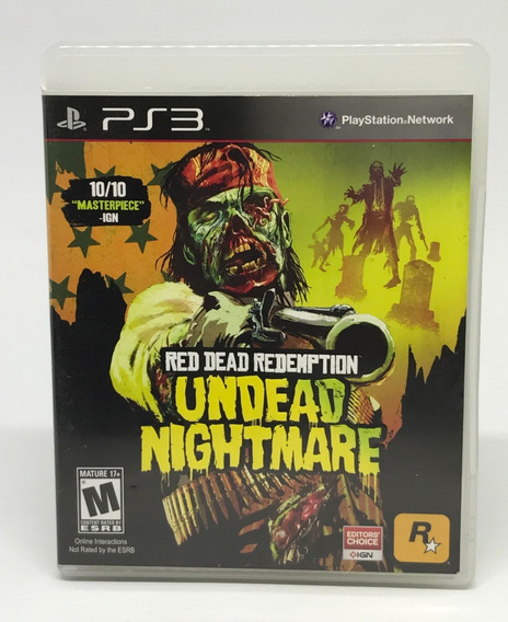 Jogo Ps3 Red Dead Redemption Undead Nightmare - 30711