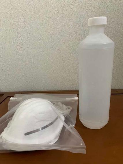 Paquete De 10 Cubrebocas Tipo Concha + Gel Antibacterial