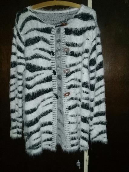 Saco Animal Print Cebra, Impermeable Polar