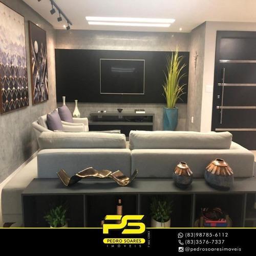 Apartamento Com 3 Dormitórios À Venda, 147 M² Por R$ 790.000,00 - Brisamar - João Pessoa/pb - Ap3513