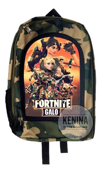 Mochila Fortnite Raven Camuflada Gamers Roblox Compadretes