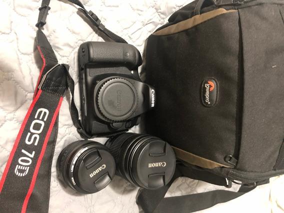 Câmera Canon Eos 70d Wi-fi Semi-nova