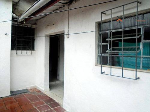 Casa Com 1 Dormitório Para Alugar, 45 M² Por R$ 750/mês - Parque Novo Oratório - Santo André/sp - Ca0271