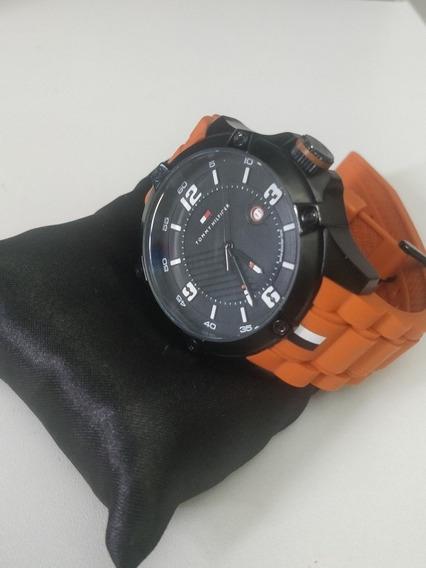 Relógio Tommy Hilfiger - Pulseira Laranja - Impecável