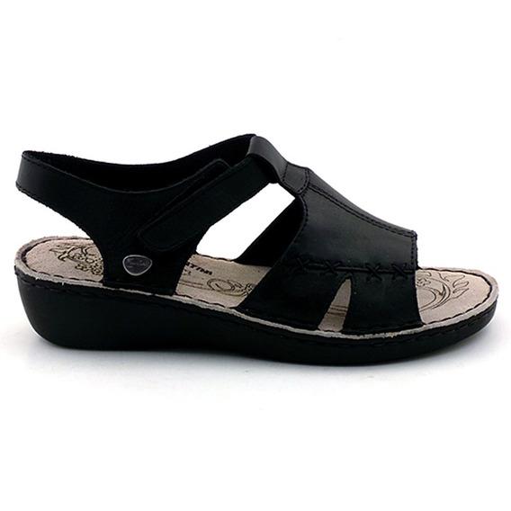Sandalia Mujer Cuero Cavatini Zapato Goma Confort Mcsd04264