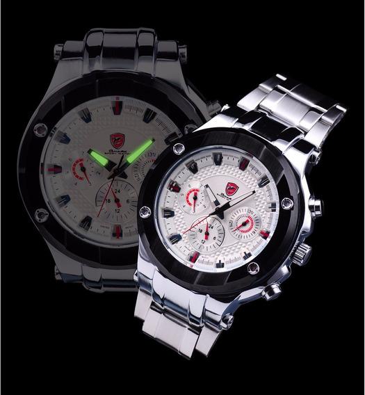 Relógio Sandbar Shark Luxury White - Frete Grátis