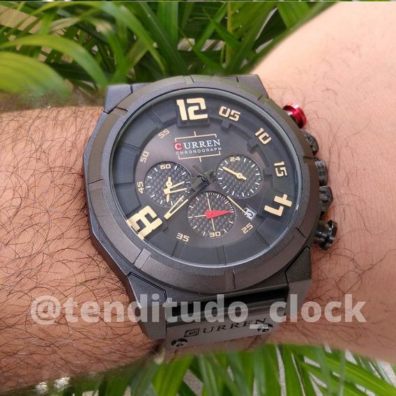 Relógio Com Pulseira De Couro Alta Qualidade Original 8287