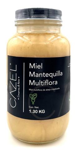 Imagen 1 de 4 de Miel Mantequilla Multiflora Pura De Abeja 1.30kg Oaxaca