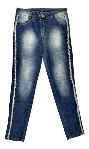Calça Jeans Cropped Feminina Azul Jezzian