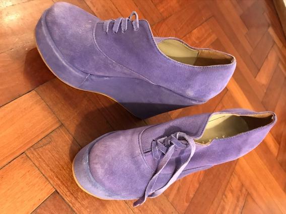 Zapatos Botineta Violetas Lazaro