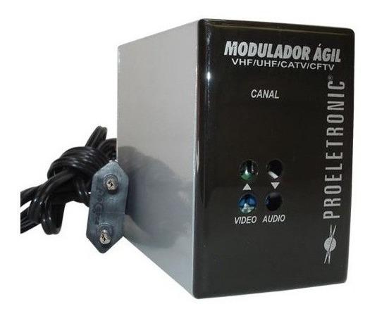 Modulador Agil Proeletronic Câmera De Segurança Uhf Vhf Catv
