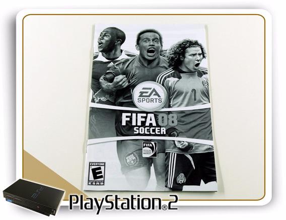 Ps2 Manual Fifa Soccer 08 Original Playstation 2