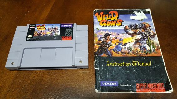 Wild Guns Cartucho E Manual Originais - Super Nintendo Snes