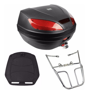Bau Moto 52 Litros + Bagageiro Cg 125 150 Start Fan 2014//15