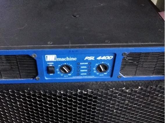 Amplificador De Potência Machine Psl 4400 Rms Impecavel