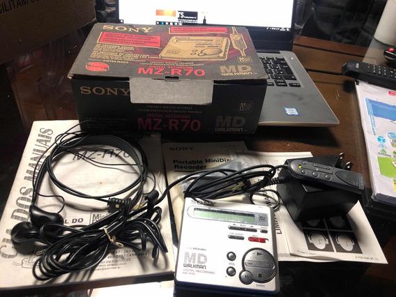 M D Walkman Sony Mz -r70 Minidisc Gravador Original Japonês