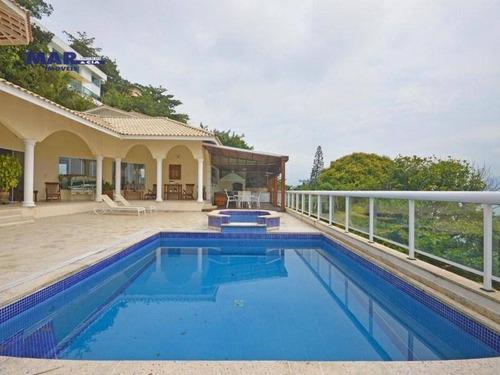 Casa Com 7 Dormitórios À Venda, 1000 M² Por R$ 7.000.000,00 - Península - Guarujá/sp - Ca0602