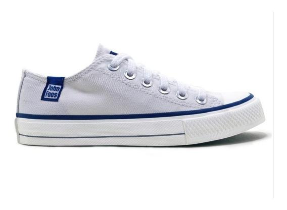 Zapatillas Moda John Foos 182 Lona Color Blanco
