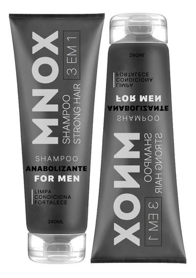 02 Shampoo Anti Queda Fortificante Mnox For Men 240ml