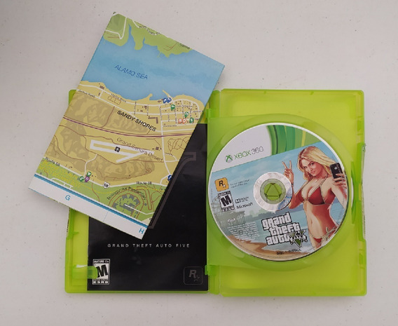 Jogo Gta 5 - Xbox 360 - Original - Mídia Física - Usado