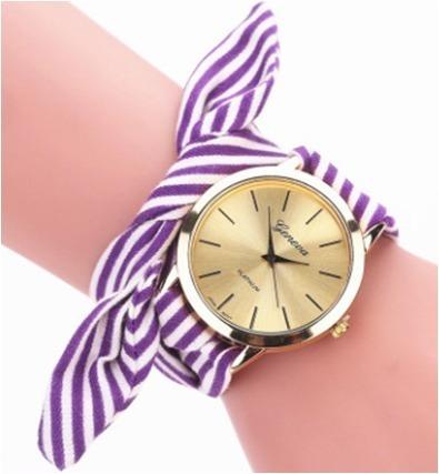 Reloj Dama Moda Casual Juvenil Pañuelo