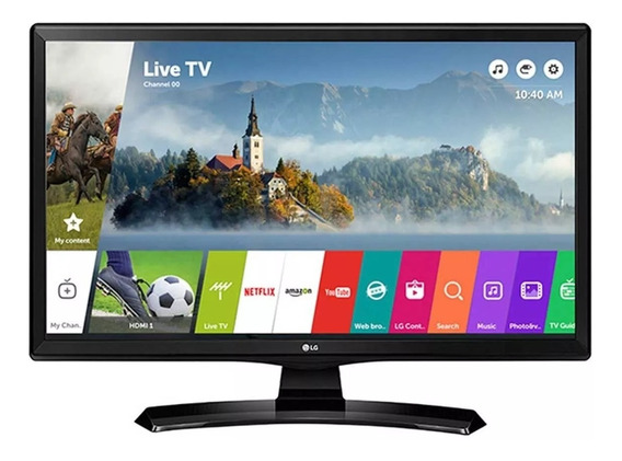 Tv Monitor Smart Led 23,6 Hd Lg 24mt49s-ps Com Wi-fi, Webos