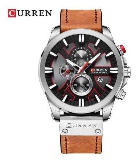 Reloj Curren Analógico Diales Reales Original Piel 8305