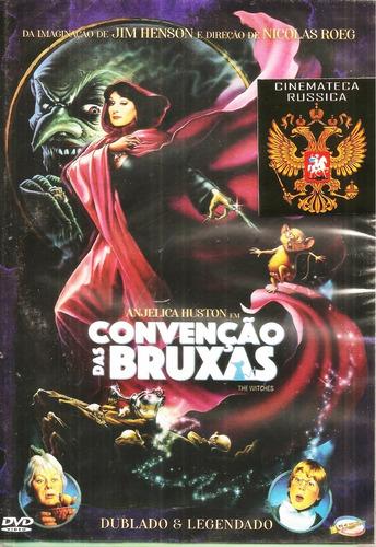 Dvd Convenção Das Bruxas Anjelica Huston, De N Roeg   1990 +