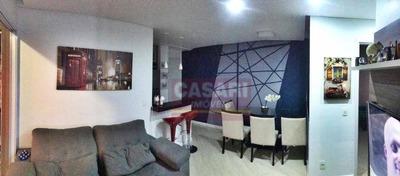 Apartamento Semi Mobiliado, Sacada Gourmet 2 Dormitórios Para Alugar, 62 M² Por R$ 2.200/mês - Fundação - São Caetano Do Sul/sp - Ap63694
