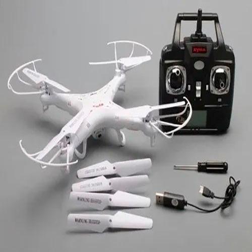 Drone Syma X5c Hd White Com 4 Baterias