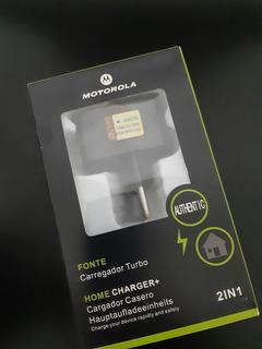 Carregador Turbo Motorola Home Charger+ Micro Usb Tipo V8