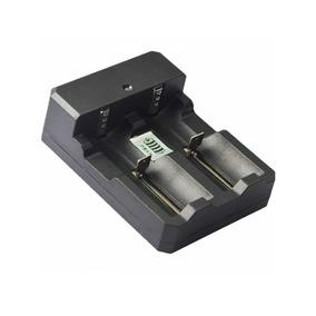 Carregador Duplo P/ Bateria 14500/18650 E 26650 P/ Lanternas