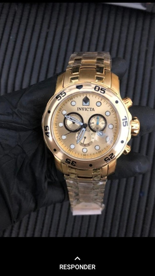Relógios Invicta Pro Driver 1 Linha Ouro Aaa +