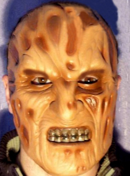 Máscara Half Mask Freddy Kruegger, Halloween Disfraz, Latex