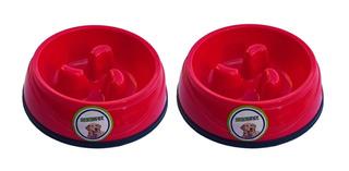 2 Platos Para Perro Comer Lento 21.5x21.5x6cm 1257