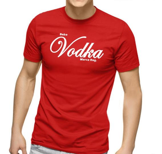Camiseta Masculina Beba Vodka - 100% Algodão