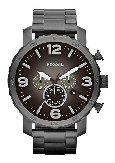 Reloj Fossil Jr1437 Quartz Hombre Acero Gris Crono