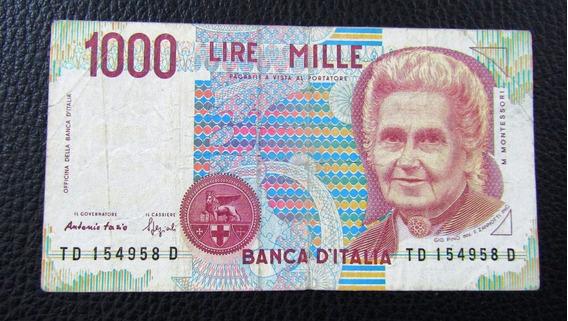 Italia Billete 1000 Liras P-114b Vf- 1990
