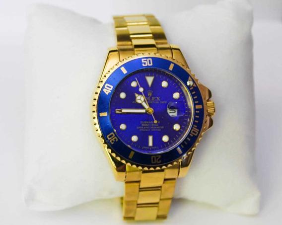 Relógio Dourado Submariner Luxo Casual Promoção