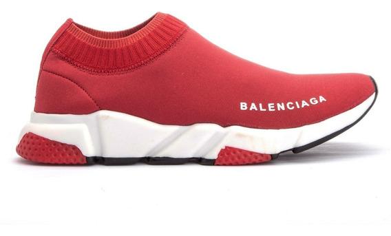 Tenis Balenciaga Cano Curto Speed Trainer Total Red Promoção