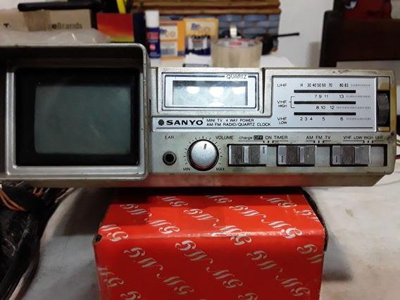 Radio Portatil Am/fm Com Televisão Vintage P/o Lar E Autos